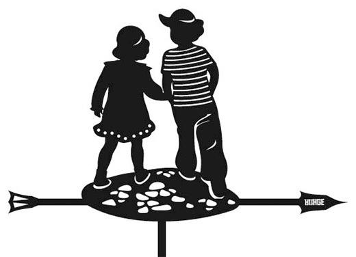 Флюгер Мальчик и Девочка