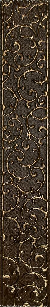 АНАСТАСИЯ бордюр орнамент шоколад 7,5х45