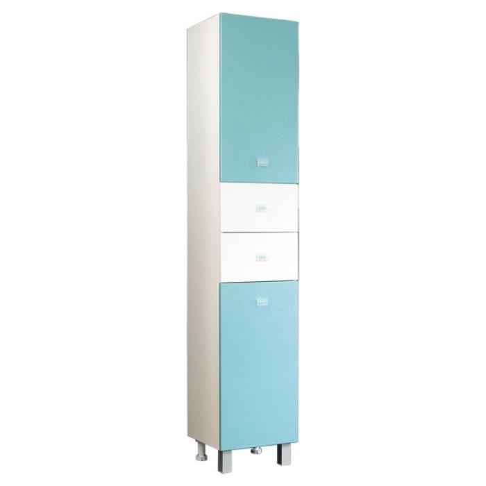 Шкаф-колонна АКВАРЕЛЬ голубой