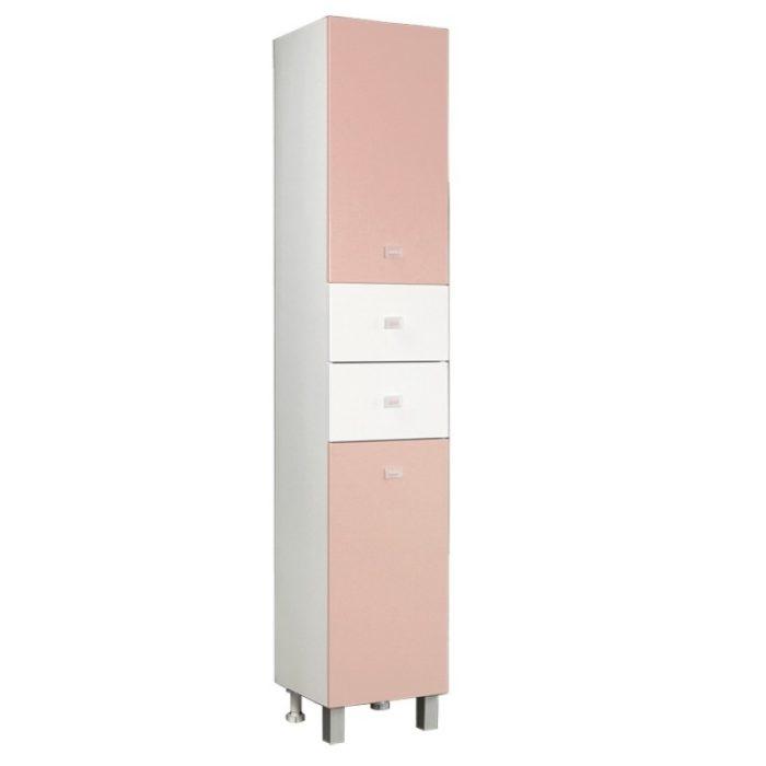 Шкаф-колонна АКВАРЕЛЬ розовый