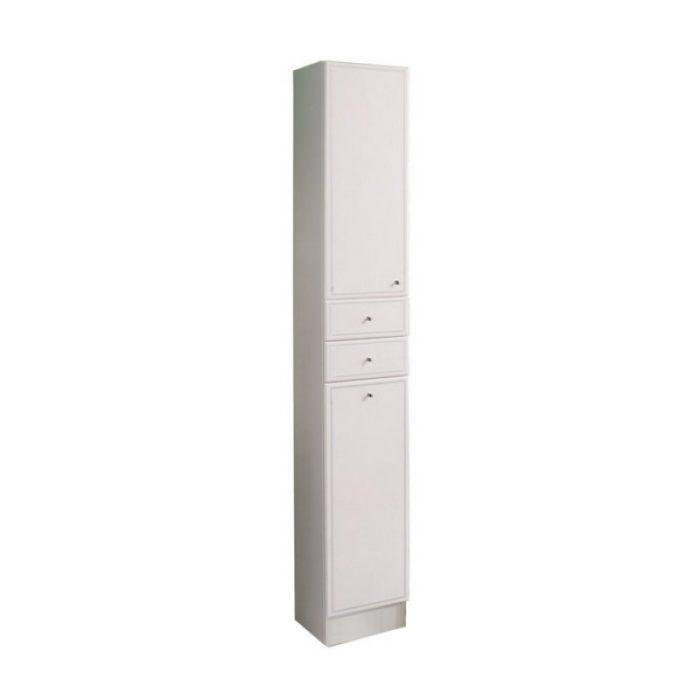 Шкаф-колонна ВАЛЕНСИЯ 30см левая белая
