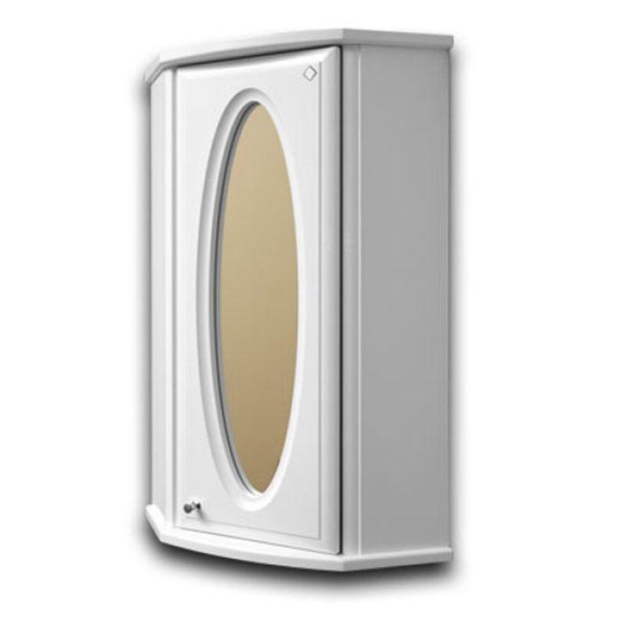Шкаф навесной АСТОР 05 35см белый зеркало