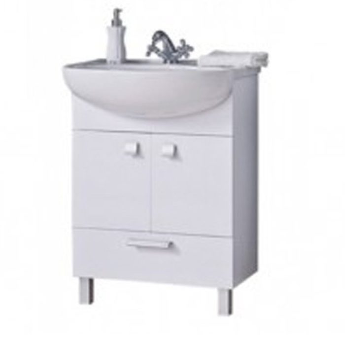 Тумба для ванной комнаты СИТИ 70см белая