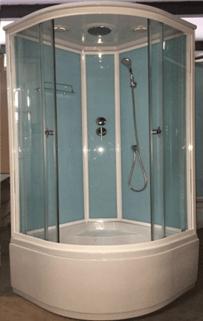 Душевая кабина 1703-1704 голубые стекла