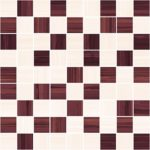 Stripes бордо+бежевый 30х30
