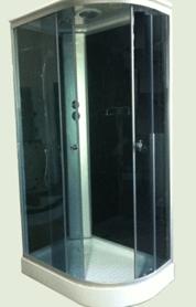 Душевая кабина 7191 B черное стекло (левая/правая)
