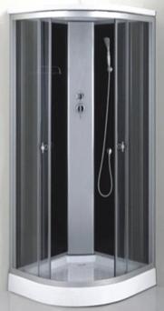 Душевая кабина 7111 B (черное стекло)
