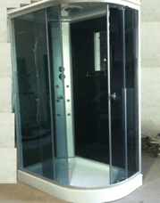 Душевая кабина 790 B с электрикой (черное стекло - правая/левая)