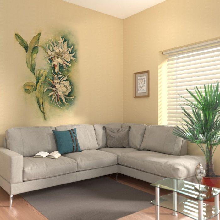 Цветок жёлтый - Хризантема