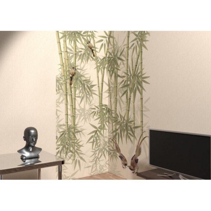 Ламинированная панель ПВХ с печатью Бари серый - Оазис панно_1
