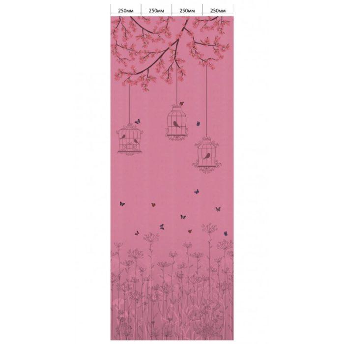 Цветок розовый - Певчие птицы