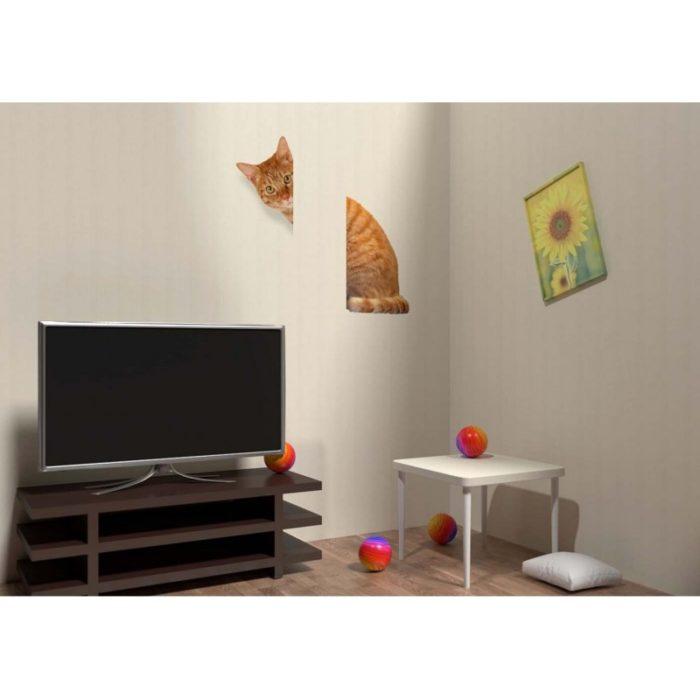 Лён серый - Рыжий кот